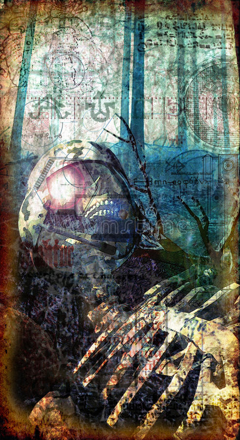 Soldat mort gothique illustration libre de droits