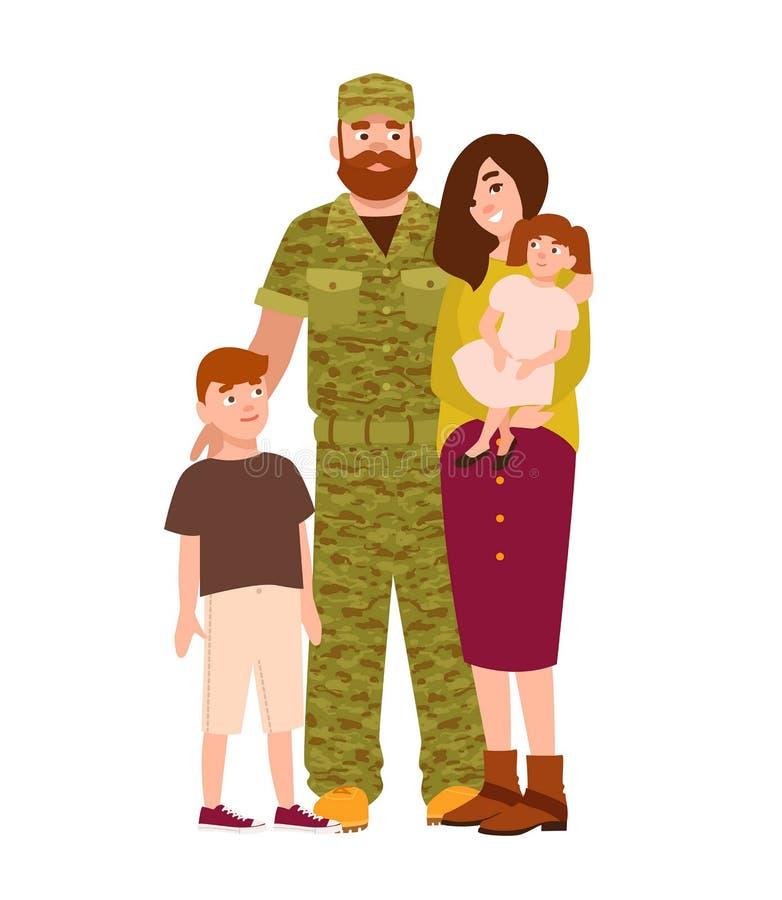 Soldat, Soldat oder Soldat kleideten in Tarnung clothi an stock abbildung