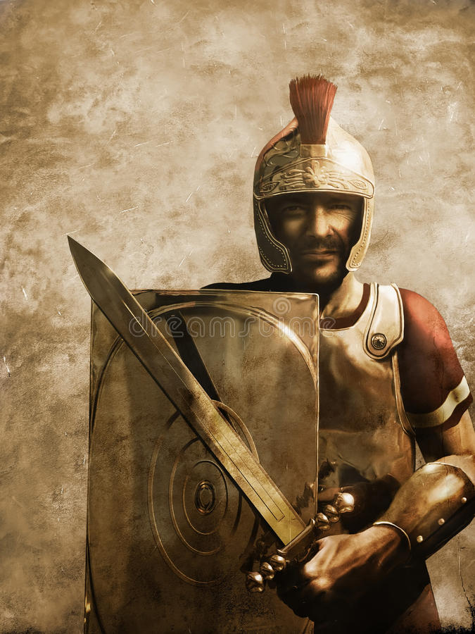 Soldat romain illustration stock