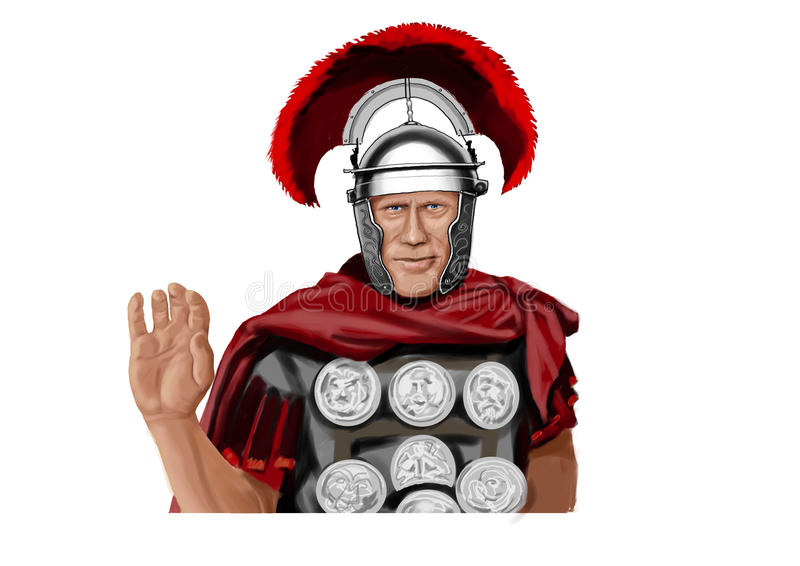 Soldat romain illustration libre de droits