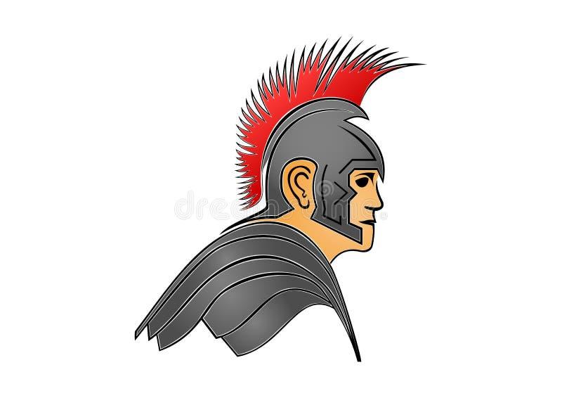 Soldat romain, gladiateur, guerrier illustration libre de droits