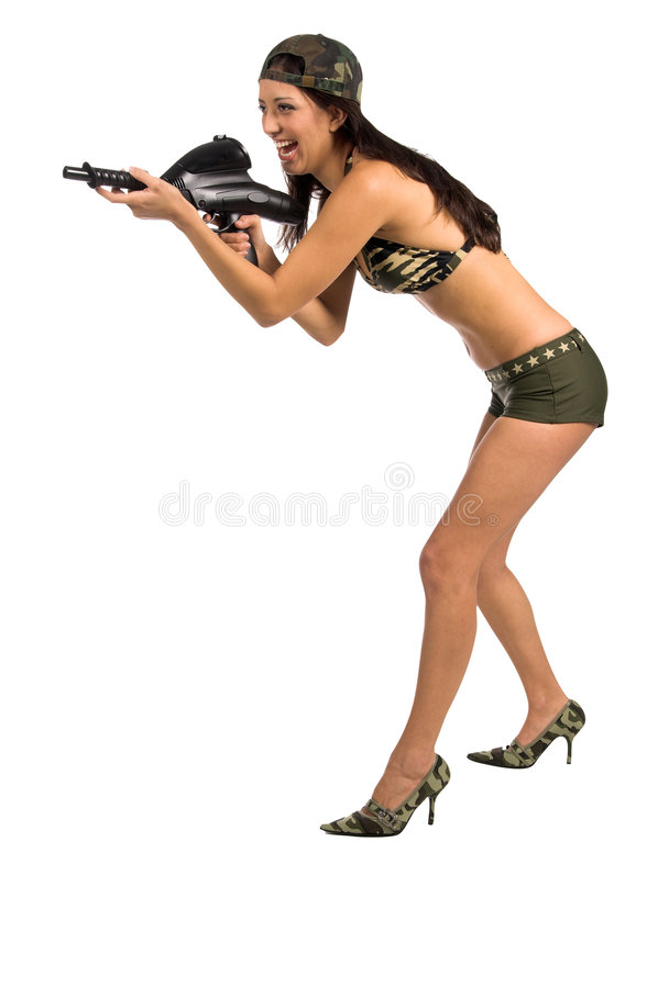 Soldat sexy image libre de droits