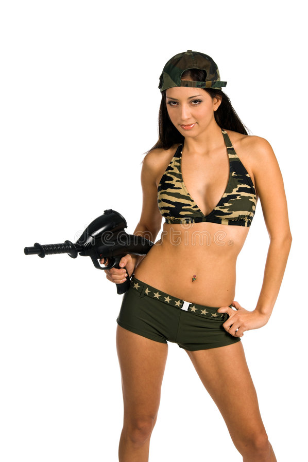 Soldat sexy image stock