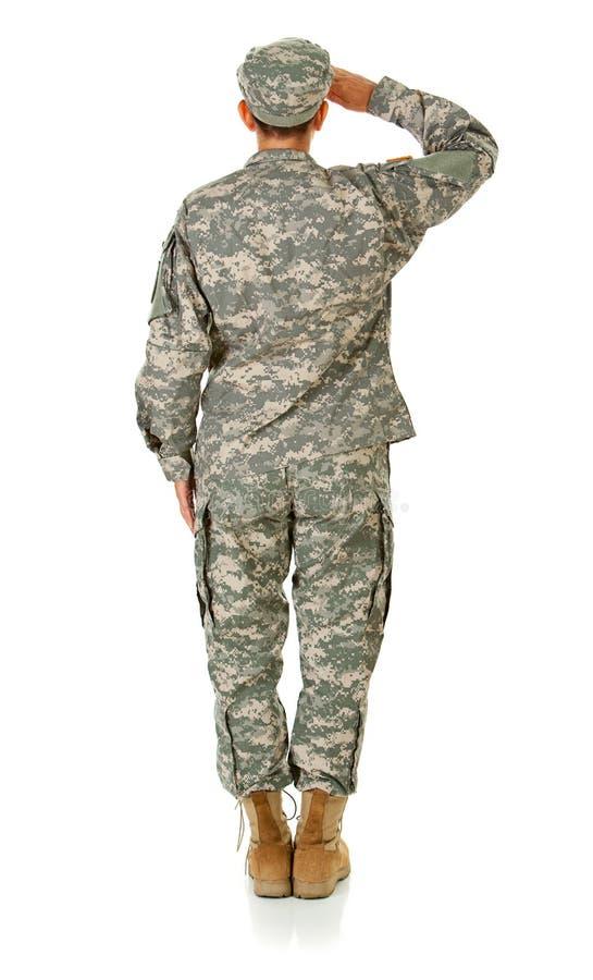 Soldat: Stellung an der Aufmerksamkeit stockbilder