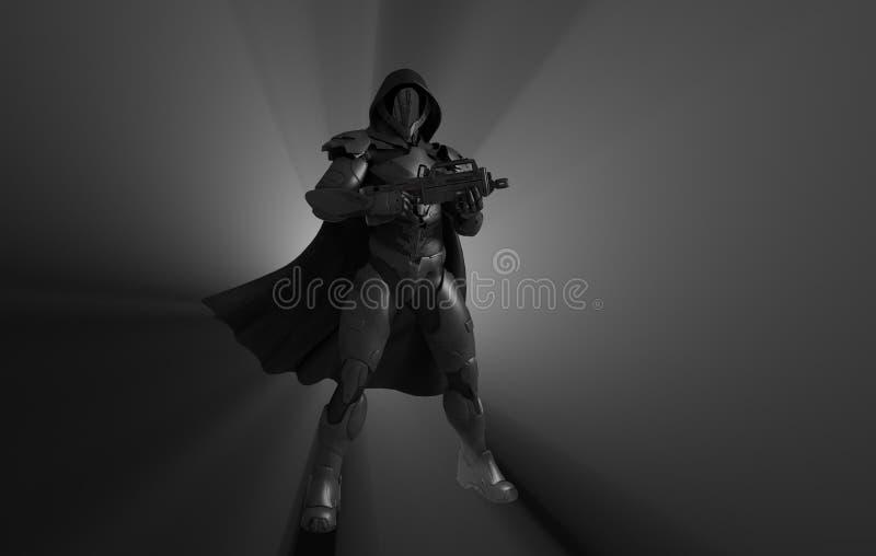 Soldat superbe avancé illustration stock
