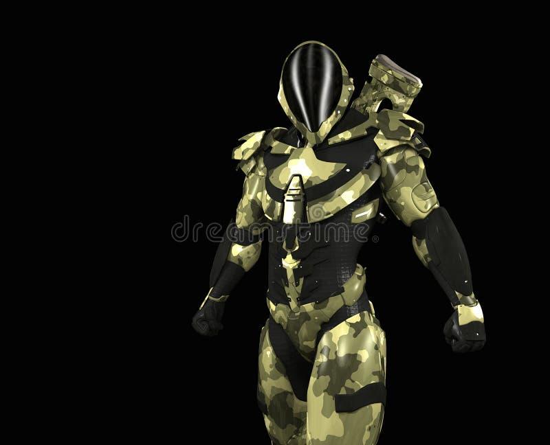 Soldat superbe avancé illustration de vecteur