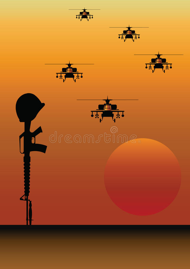 Soldat tombé illustration stock