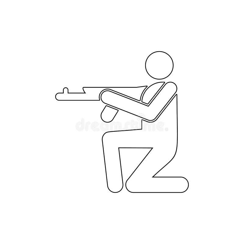 Soldat vapen, skytte vektor illustrationer