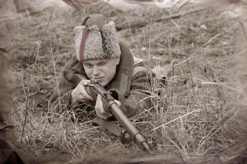 Soldat von WWI stockfotografie