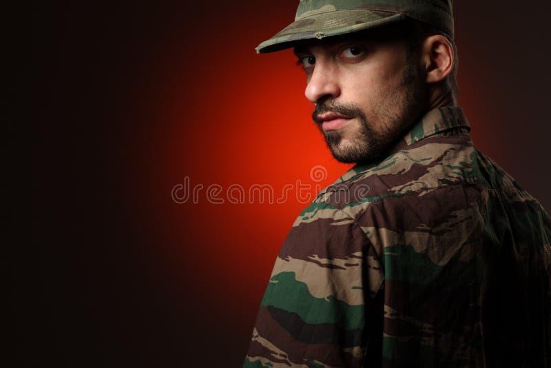 soldatbuse royaltyfri foto