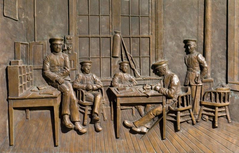 Soldaten in der Bronze stockfotografie