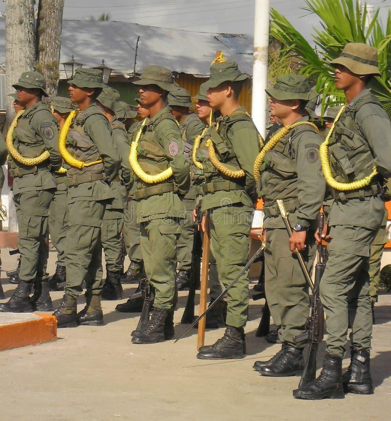 Soldaten der venezolanischen Nationalgarde stockbilder