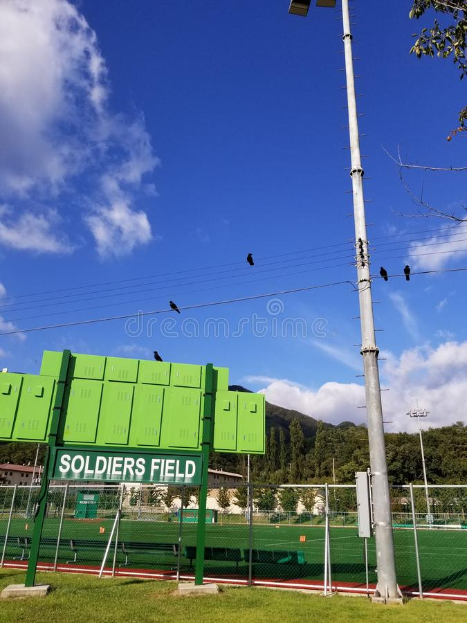 Soldaten Field and Crows Camp Casey stockbild