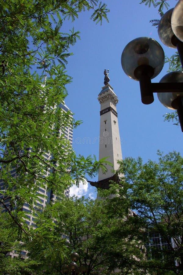 Soldaten und Denkmal der Seeleute - Indianapolis stockbild