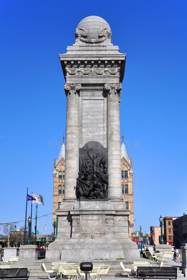 Soldaten ` und Seeleute ` Monument, Syrakus, New York lizenzfreies stockbild