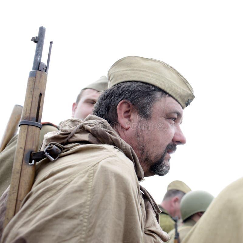 Soldater av den andra världen royaltyfri foto