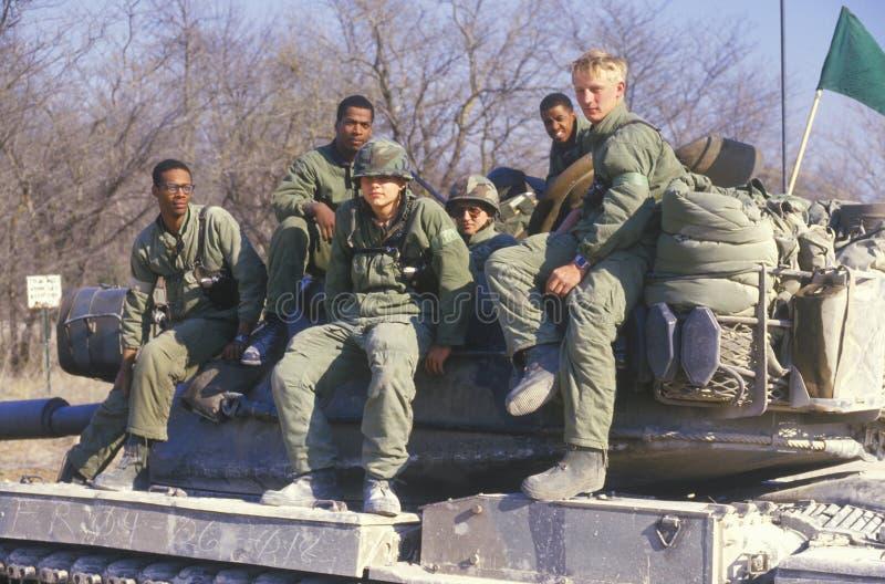 Soldater från kåren för US-armébehållare arkivfoton