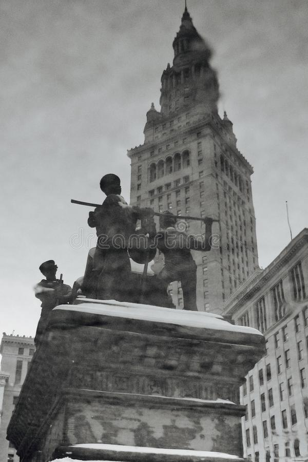 Soldater och sjömän och det slutliga tornet arkivbild