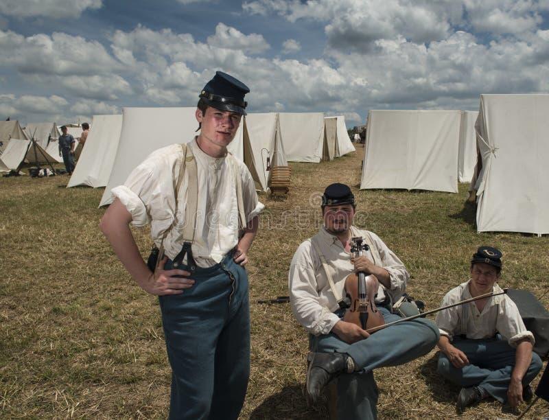 Soldater på Gettysburg royaltyfri foto