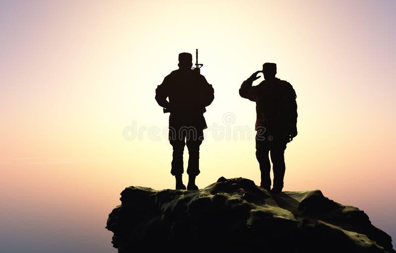soldater två royaltyfri illustrationer