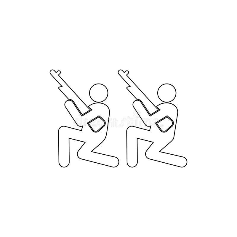 Soldater vapen, skytte royaltyfri illustrationer