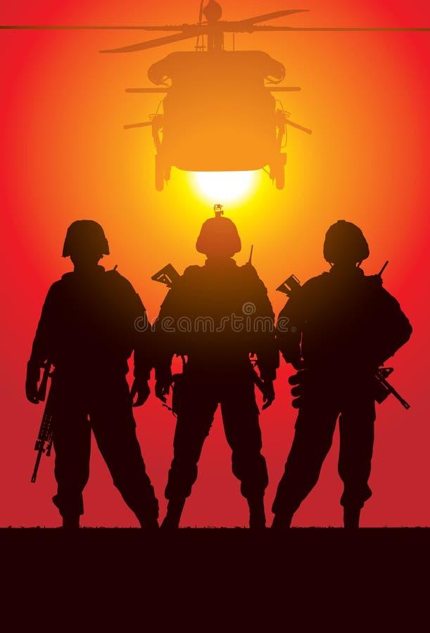 Soldati illustrazione di stock