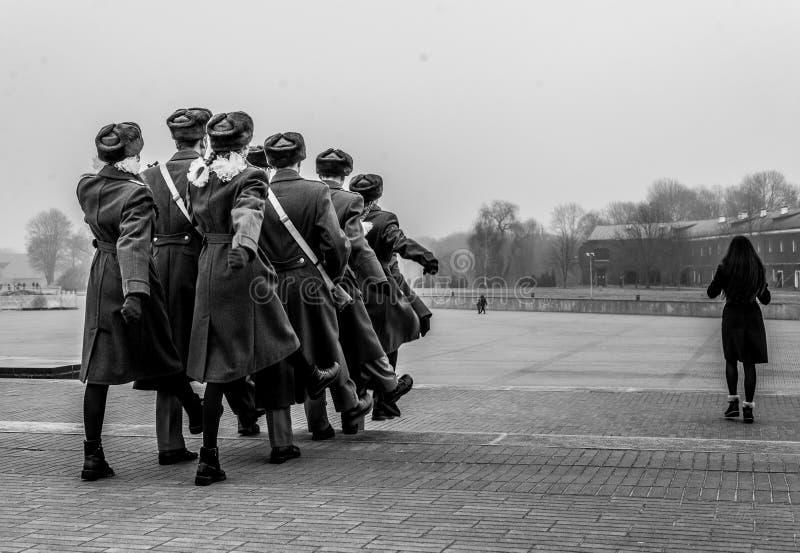 Soldati a Brest Bielorussia immagine stock libera da diritti