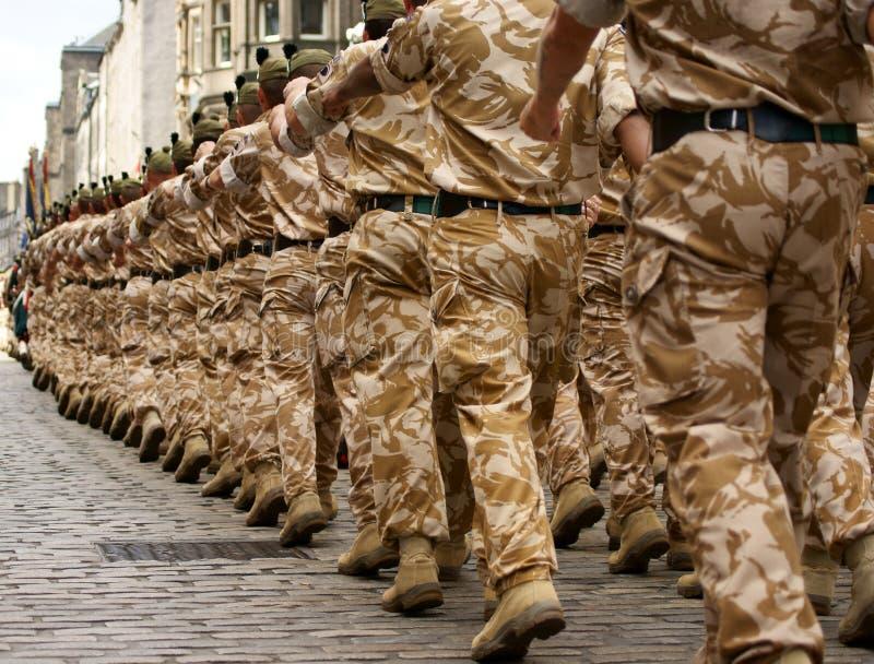 Soldati britannici dell'esercito immagine stock libera da diritti