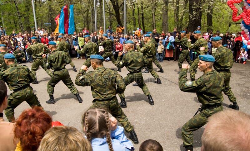 Soldati di cavalleria russi fotografie stock
