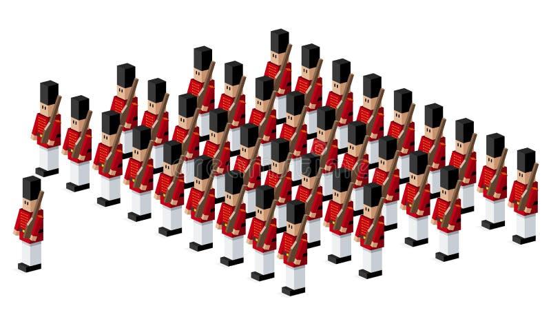 Soldati di giocattolo illustrazione di stock