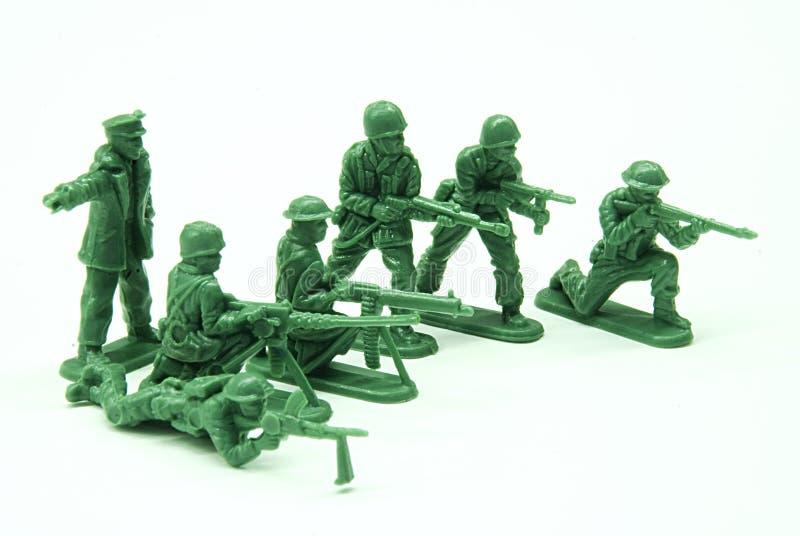 Soldati di giocattolo del plotone immagini stock