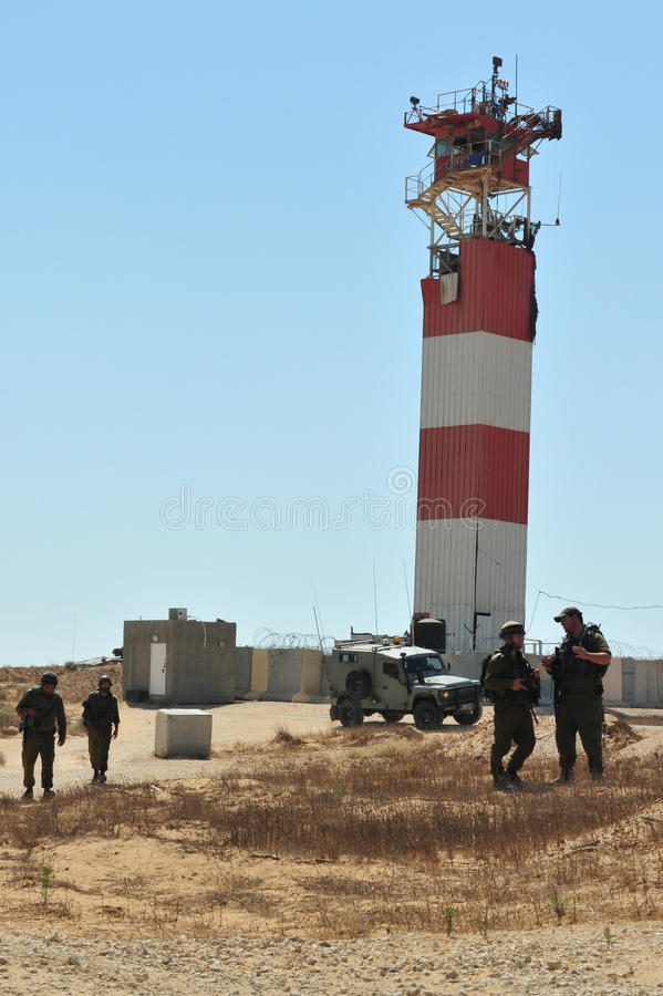 Soldati israeliani fotografia stock libera da diritti