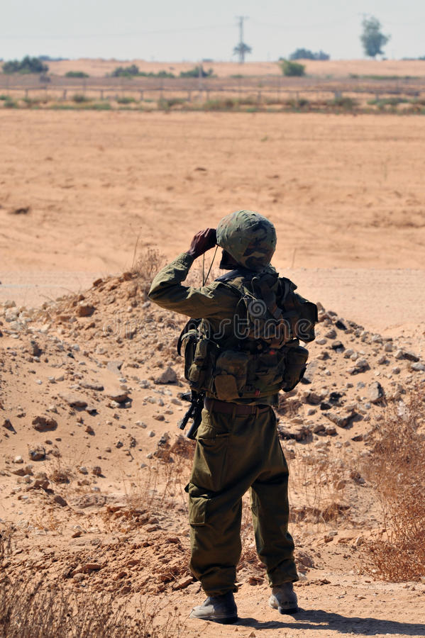 Soldati israeliani immagini stock libere da diritti