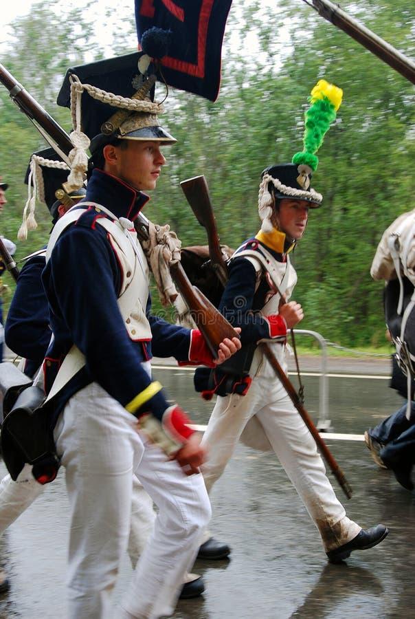 Soldati in marcia immagini stock libere da diritti
