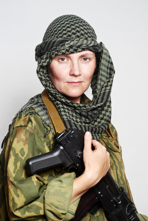 soldatkvinna arkivfoton