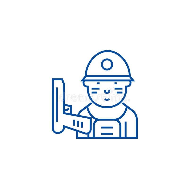 Soldatlinje symbolsbegrepp Plant vektorsymbol för soldat, tecken, översiktsillustration vektor illustrationer