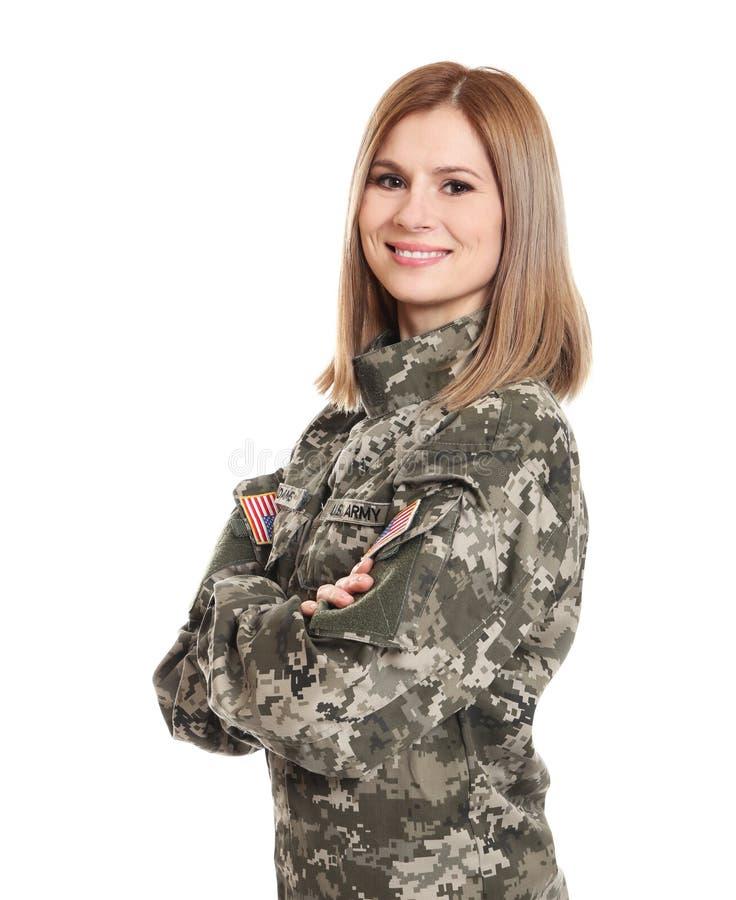 Soldato abbastanza femminile immagini stock