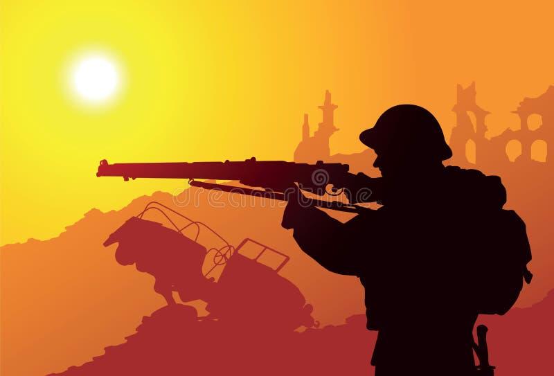 Soldato britannico illustrazione di stock
