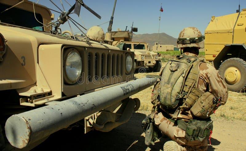 Soldato ceco nell'Afghanistan fotografie stock
