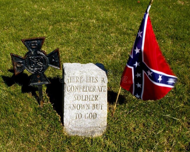 Soldato confederato sconosciuto fotografie stock