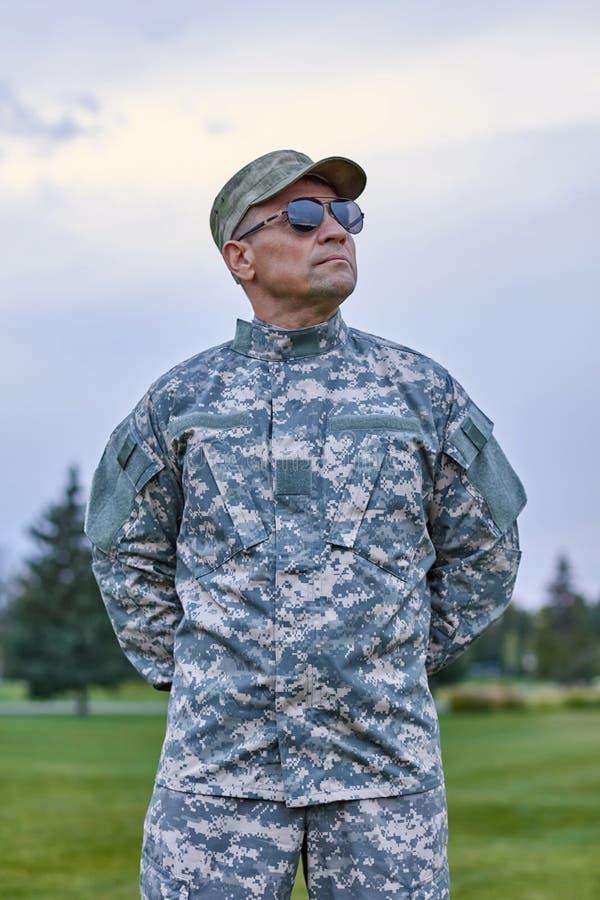 Soldato coraggioso coraggioso fotografie stock libere da diritti