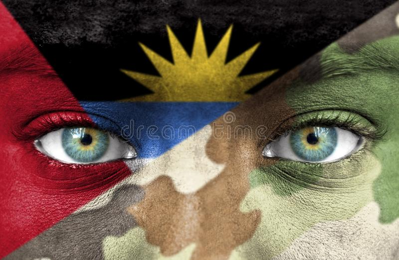 Soldato dall'Antigua e Barbuda immagini stock libere da diritti