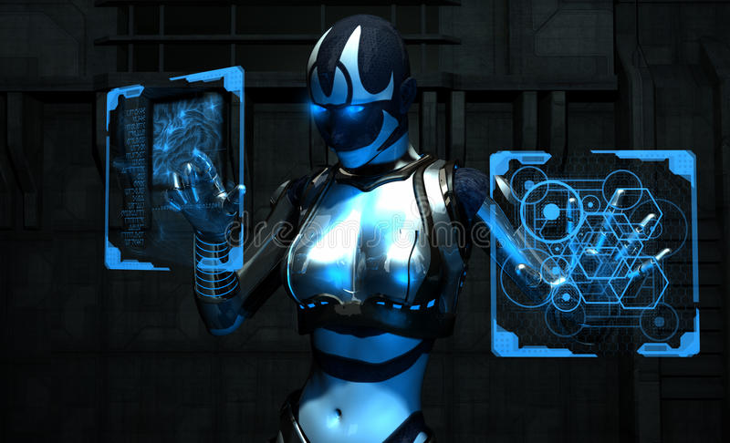 Soldato del Cyborg illustrazione vettoriale