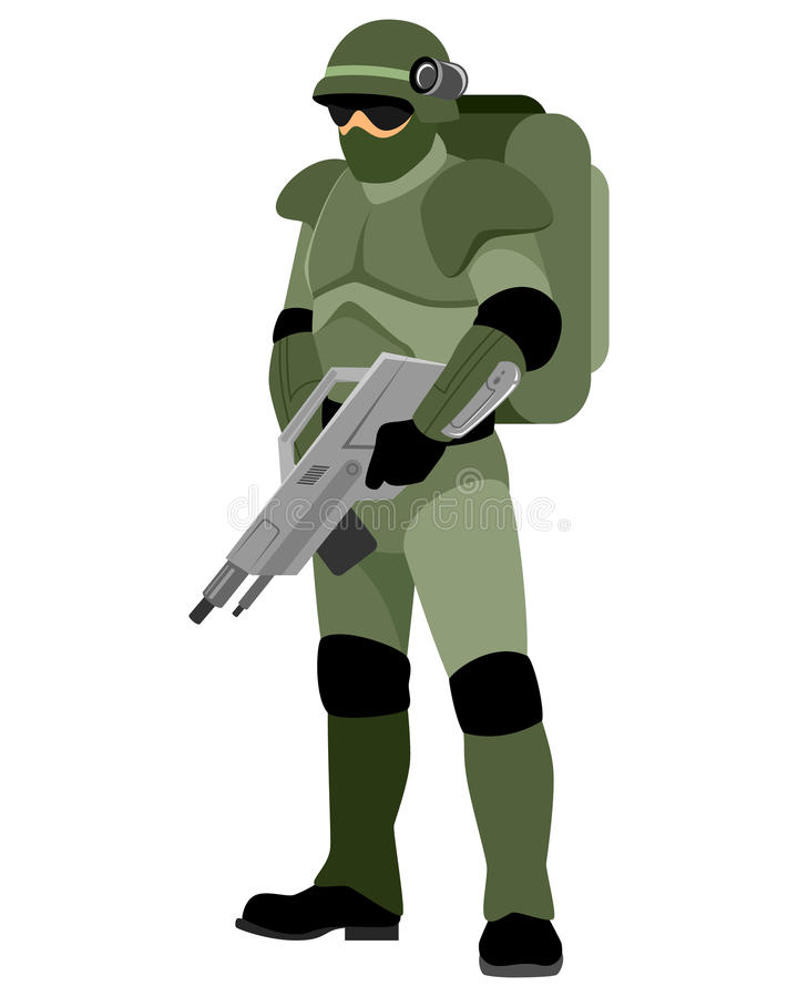 Soldato del futuro illustrazione vettoriale
