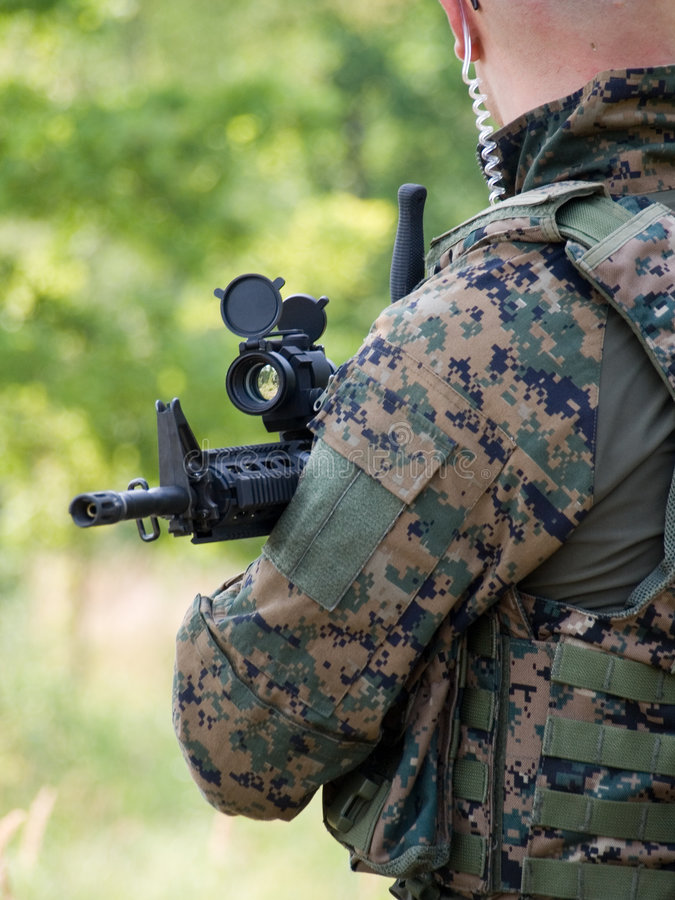 Soldato di Canadiam immagine stock libera da diritti