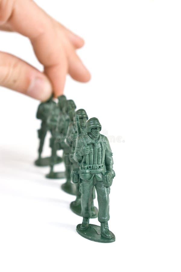 Soldato di giocattolo fotografie stock
