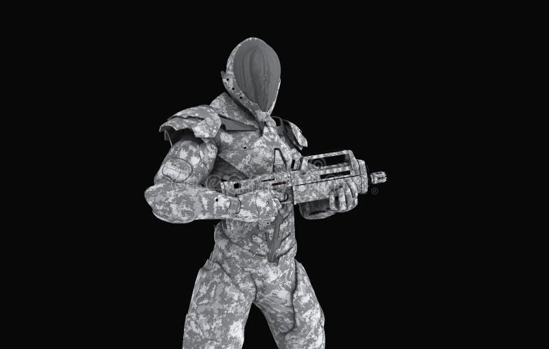 Soldato eccellente avanzato illustrazione vettoriale