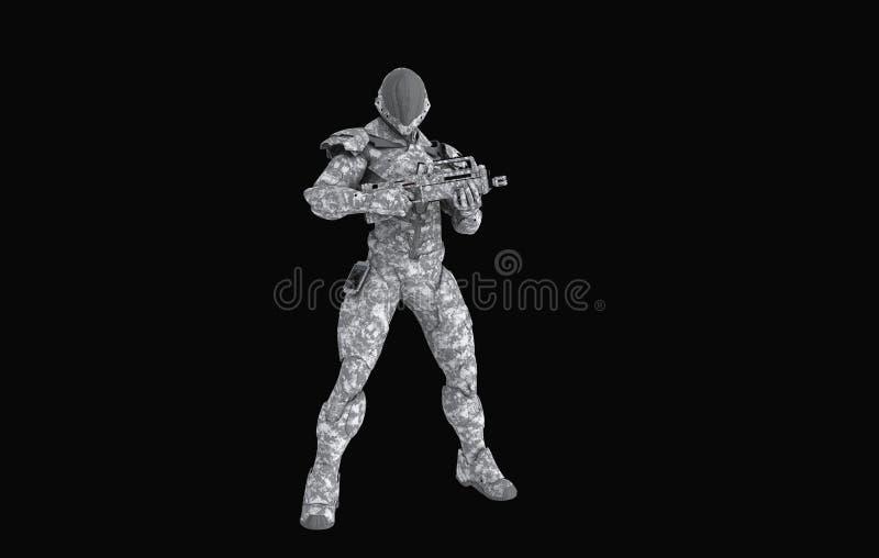 Soldato eccellente avanzato royalty illustrazione gratis