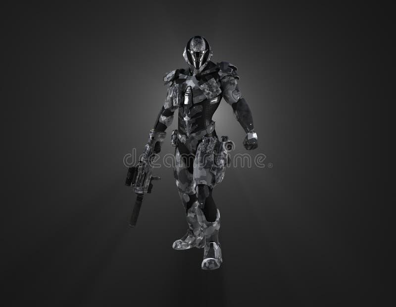 Soldato eccellente futuristico illustrazione vettoriale