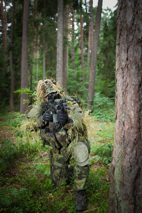 Soldato mascherato fotografia stock libera da diritti